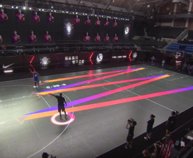 Basketball Mapping and Projection Experiential Marketing Examples 2016