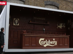 Carlsberg Created a Bar made of chocolate
