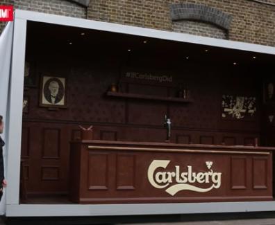 Carlsberg Created a Bar made of chocolate
