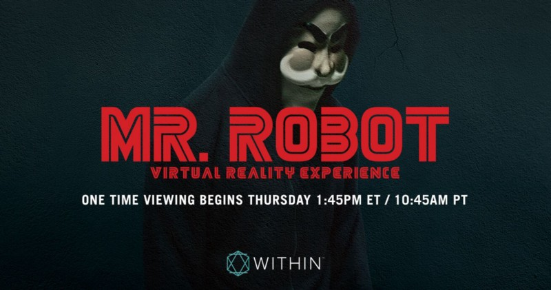 'Mr. Robot' Is Simulcasting a Virtual Reality Short Film—Then It's Gone, so Don't Miss it!