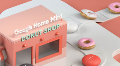 Google Home mini donut shop