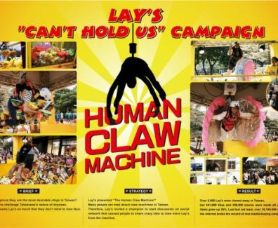 The Lays Human Claw Machine