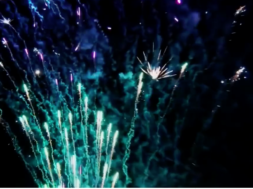 realtime interactive fireworks stunt